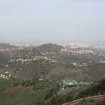 pohľad na Las Palmas z krátera Bandama