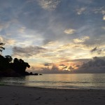 Zapad slnka na Anse Louis