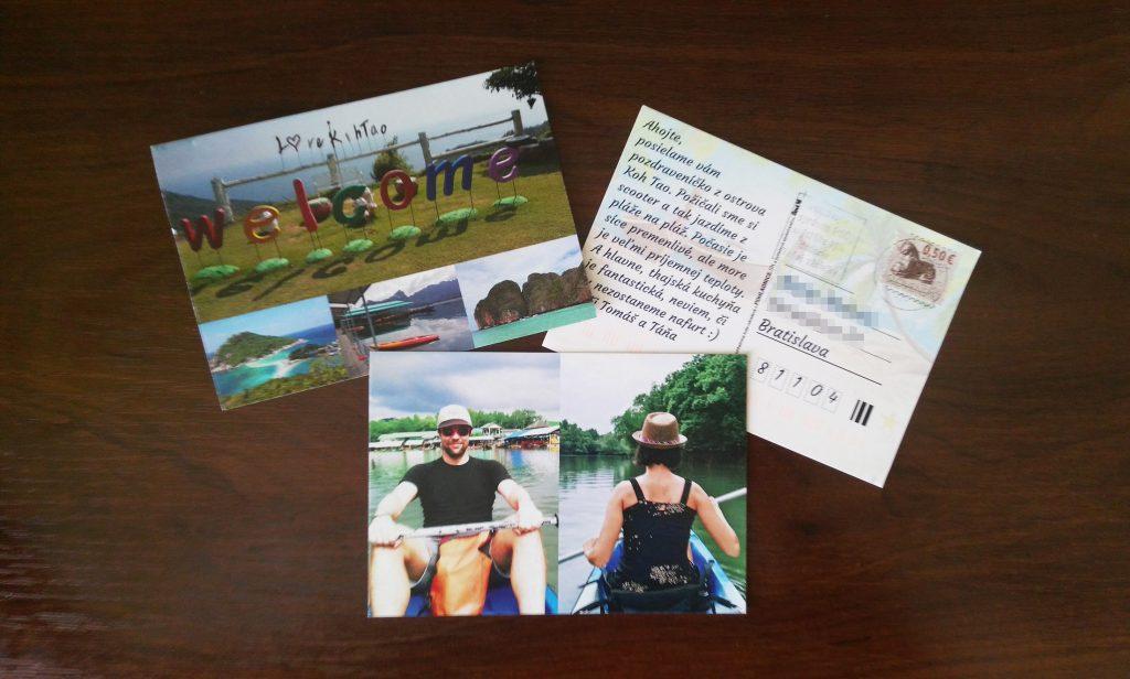 Thajská pohľadnica nám prišla domov za 3 pracovné dni