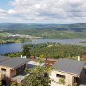 Výhľad zo zastávky Skogen